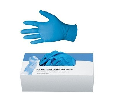 Omar Medical Supplies Powder-Free Nitrile Multipurpose Gloves, 100 – Medium