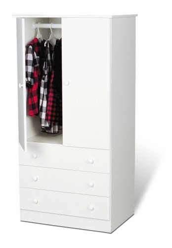 Lowest Prices! Prepac Kids' Wardrobe, White