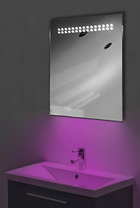 Ambient Ultra-Slim Led Bathroom Mirror With Demister Pad & Sensor K8P