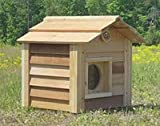 17 Inch Cedar Cat House : Size 17 INCH CEDAR CAT HOUSE - INSULATED
