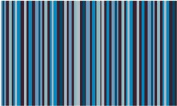 Chocolate Transfer Sheet: Stripes in White, Green & Shades of Blue. Pack of 2 Sheets, Each Sheet 16\