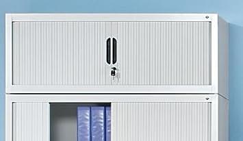 CP Rehausse pour armoire à rideaux - h x l x p 450 x 1000 x 420 mm - gris clair - Armoire Armoire pour bureau Armoire à rideaux Armoires Armoires pour bureau Armoires à rideaux Rehausse pour armoire Rehausses pour armoires Armoire de
