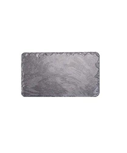 Les plats en ardoise 25 x 17 cm-Set de table rectangulaire/plateau/planche à fromage Noir