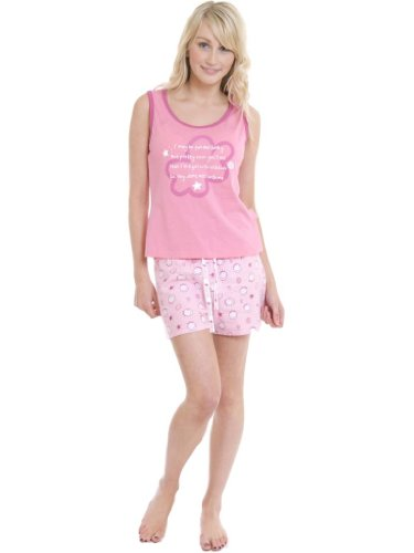 49-PRG0064 LADIES SLEEVELESS TOP SHORTS PYJAMA