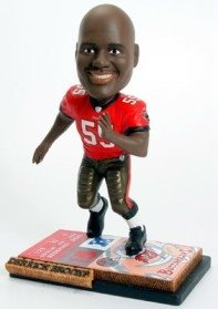 Tampa Bay Buccaneers Derrick Brooks Ticket Base Forever Collectibles Bobble Head by Hall of Fame Memorabilia
