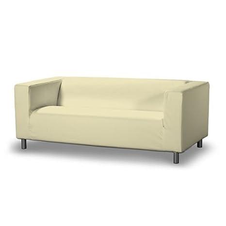 DEKORIA 629-702-29 Klippan 2-Plazas Sofá funda, Cotton Panama, funda sofá, crema