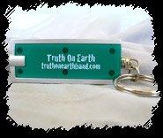 Truth On Earth Led Flashlight Keychain