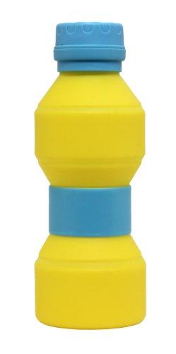 折りたたみボトル ウェイブシェイプ イエロー×ブルー AR0623215