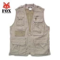Fox Photo Safari Vest Khaki 2XL