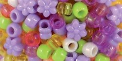 Sulyn Clubhouse Crafts Bead Mix-Princess-Pink; Yellow; Purple; Lime; 3 Items/Order
