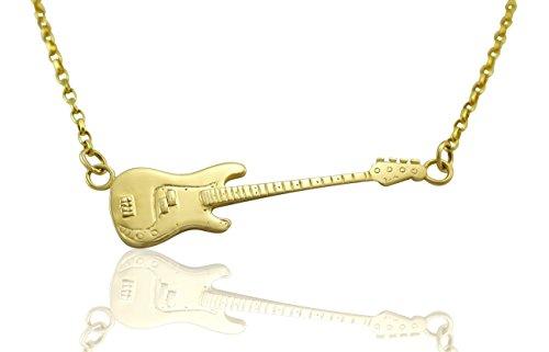 aus-massivem-9-ct-Gold-Fender-Precision-Bass-Gitarre-Anhnger-Halskette-Geschenk-fr-Gitarristen-Spieler-und-Musiker-whlen-Sie-GreKette-fr-unter-FARBE-Name