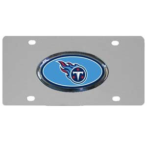 Nfl Tennessee Titans Steel License Plate With Raised Logo front-33407