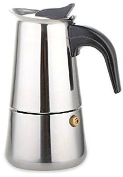 BTbestop Stainless Steel Stovetop Moka Pot Espresso Coffee Maker, 9 Cups