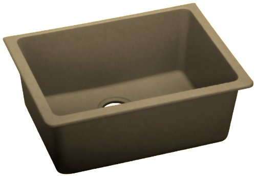 Elkay ELGU2522MC0 Gourmet E-Granite Undermount Sink, Mocha