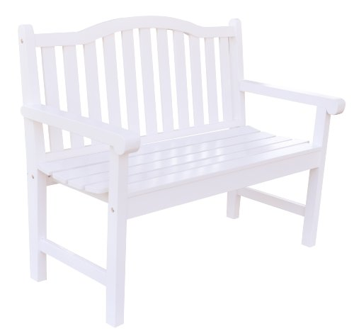 Shine Company Belfort Garden Bench, White