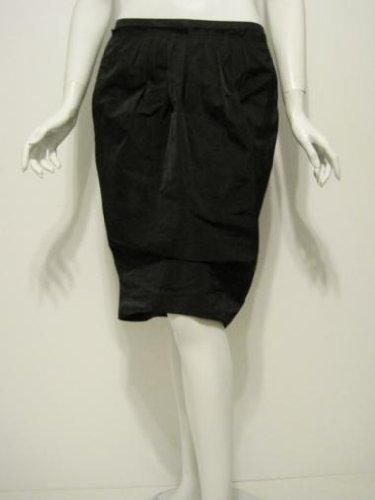 Nina Ricci womens black pleat waist skirt 42