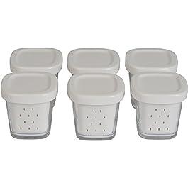 Seb XF100001 Delices 6 Joghurtgläser mit grauen Deckeln inkl. Abtropfschale