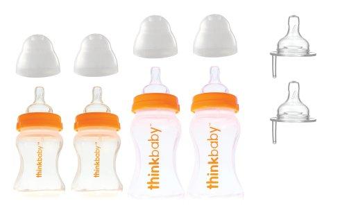 Thinkbaby BPA Free Starter Set, Orange/Natural, 0-12 Months