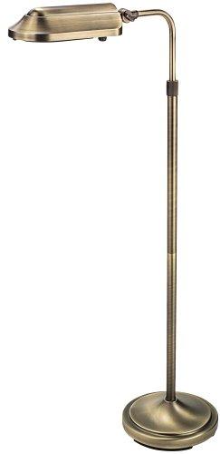 Verilux Heritage Natural Spectrum Deluxe Floor Lamp, Antiqued Brushed Brass