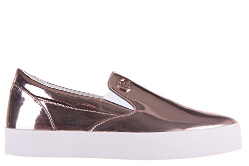 Armani Jeans slip on donna nuove sneakers originali patent metal rosa EU 37 C57D5 62 8A