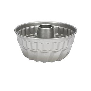 Patisse Nonstick Silver Top Bundt Pan, Silver Grey
