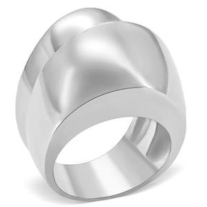 RIGHT HAND RING - High Polished Stainless Steel Smooth Surface Dual Row Dome Ring