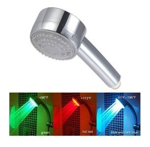 LED Light Shower Head changes as the water temperature changes