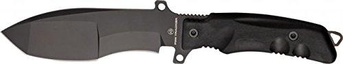 Fox Trakker Sniper Knife Fixed Blade Knife, 5.25In, Black Forprene Handle Fx-9Cm01B