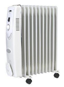 Sealey RD2500 Oil Filled Radiator 2500W/230V 11 Element
