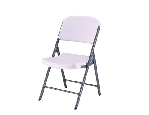Cheap Lifetime 32804 Folding Chair With Molded Seat And Back White Granite