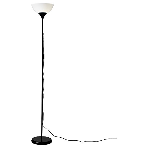 Ikea 101.398.79 Not Floor uplight lamp, Black, White, 69-inch