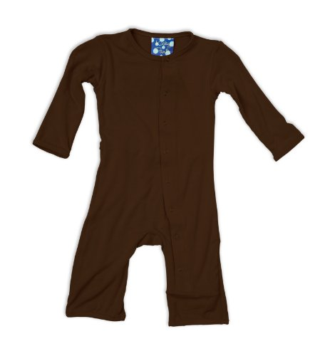 Kickee Pants Coverall, Bark, 6-12 Months front-461312