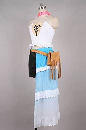 Cool-Coser Cosplay Costume M-Medium Size Final Fantasy X-2 Yuna Halloween Cosplay Costume Final Fantasy X-2 Yuna Halloween Cosplay CostumeJapanese Girl Boy Party Fiesta Festival Dress For Coser