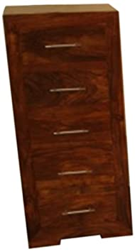 Mango Wood 5-Drawer Tall Chest