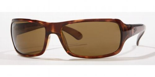 Ray Ban RB 4075 HIGHSTREET Sunglasses – Select Color (Havana Frame/Polarized Lite Crystal Brown Lens)