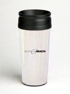 16 oz. Double Wall Insulated Tumbler with heart and health sign - Paper Insert