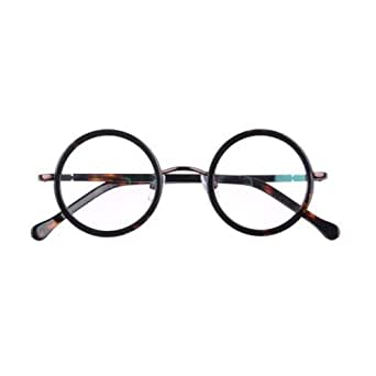 Amazon.com: Tortoise Shell Round Clear Lens Glasses ...