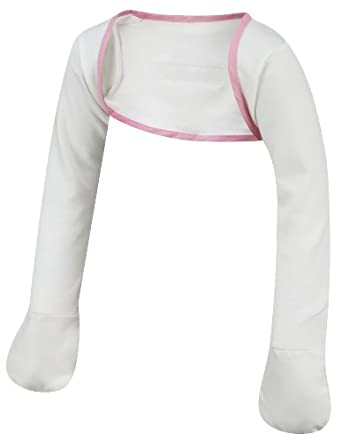 ScratchSleeves | Stay-on Scratch Mitts for Children | Cream/Pink | Sizes from 5 to 8 years