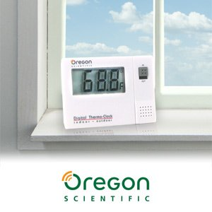 Oregon Scientific NAW881 Indoor/Outdoor Digital Thermometer with Clock