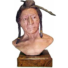 "Edward Rohn Porcelain Sculpture ""Crow Indian"""