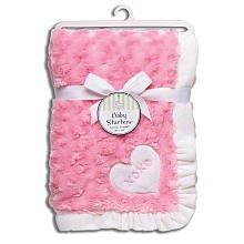 Imagen de Entrantes bebé Blanket del remolino de la felpa, color de rosa