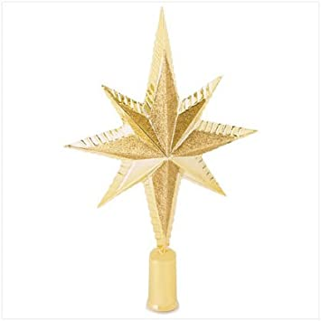 #!Cheap Gold Star Tree Topper - Style 37263