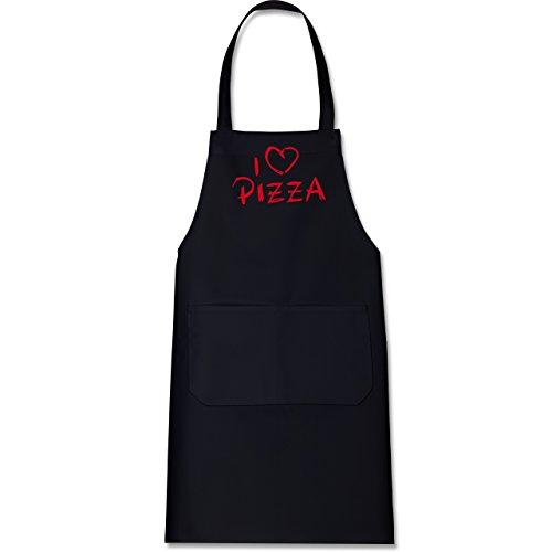 kuche-i-love-pizza-80-cm-x-73-cm-h-x-b-schwarz-x967-hobbyschurze-mit-fronttasche-fur-damen-und-herre