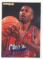 Tony Massenburg Los Angeles Clippers 1995 Fleer Autographed Hand Signed Trading Card... by Hall of Fame Memorabilia
