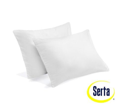 2 Serta Gel Memory Foam Pillow Set Of 2 Micro Cushion Pillows Bundle front-918267
