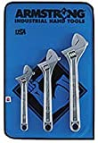 Armstrong 28-850 Chrome Adjustable Wrench Set, 3-Piece