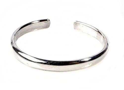 STERLING SILVER Toe Ring Plain 925 Solid Band, One Size Fits All Flexible (All Rings compare prices)