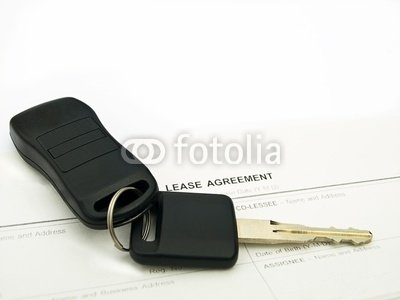 Wallmonkeys Peel and Stick Wall Decals - Car Keys on a Lease Agreement - 24
