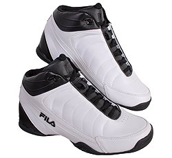 Fila Men's DLS Game Basketball Mid Shoes White/Black 10.5 M US