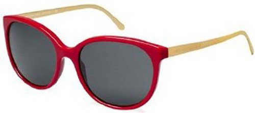 Burberry  Burberry BE4146 Sunglasses-343187 Red (Gray Lens)-55mm